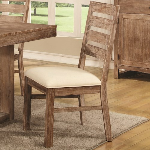 Coaster Elmwood Rustic Solid Wood Side Chair