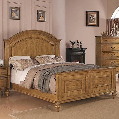 Coaster Emily Oak Queen Panel Bed