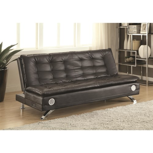Coaster Erickson Sofa Bed with Bluetooth Speakers and Power Strip with USB