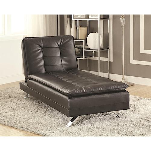 Coaster Erickson Futon Bed Chaise Lounge