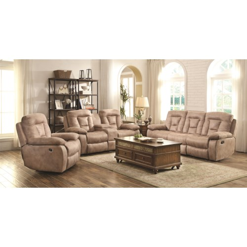 Coaster Evensky Reclining Living Room Group