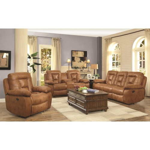 Coaster Evensky Reclining Living Room Group