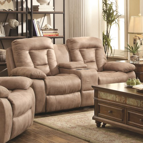 Coaster Evensky Power Loveseat in Performance Fabric