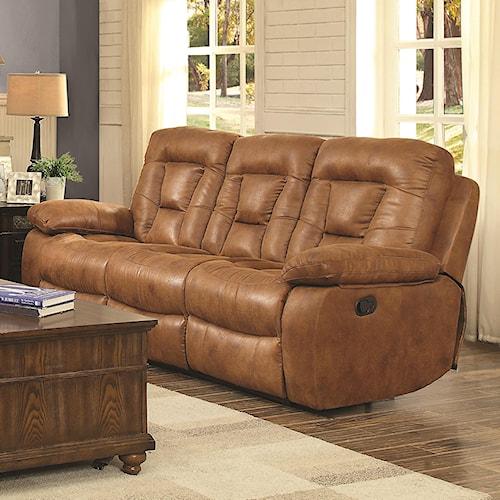 Coaster Evensky Power Sofa in Performance Fabric