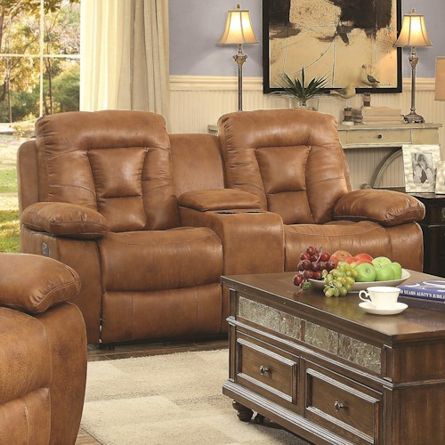Coaster Evensky Motion Loveseat in Performance Fabric