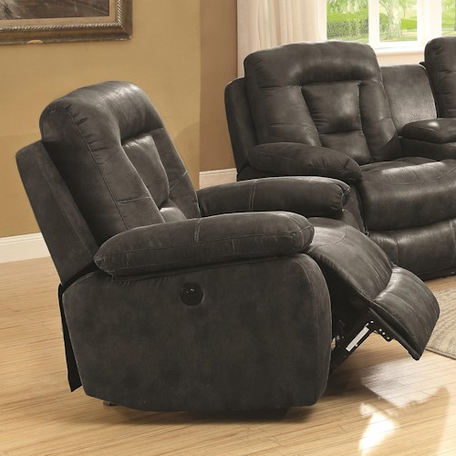 Coaster Evensky Glider Recliner in Performance Fabric
