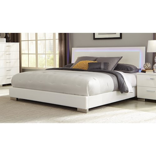 Coaster Felicity King Low Profile Bed with LED Backlight