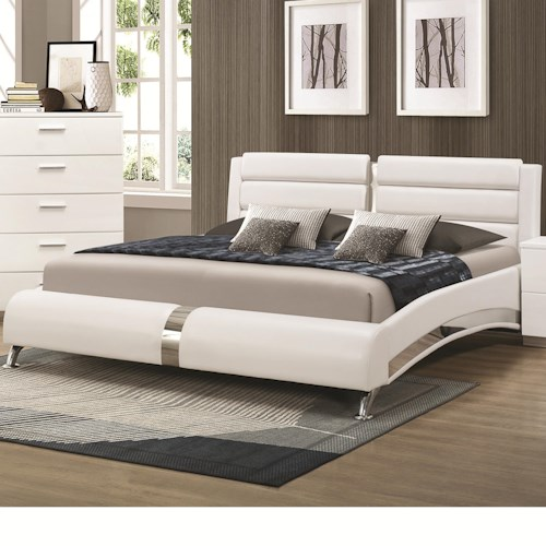 Coaster Felicity California King Bed with Metallic Accents