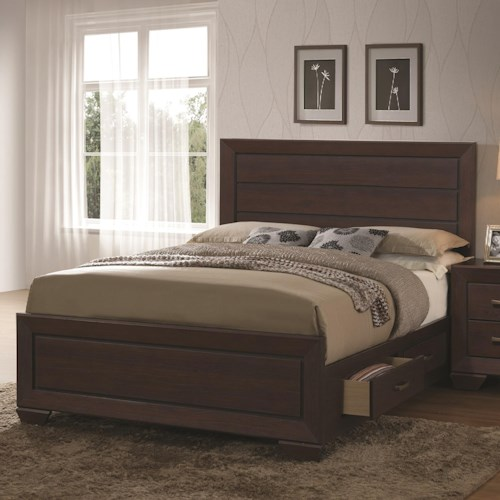 Coaster Fenbrook Transitional King Bed with Storage Drawers