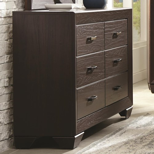 Coaster Fenbrook Transitional Six Drawer Dresser