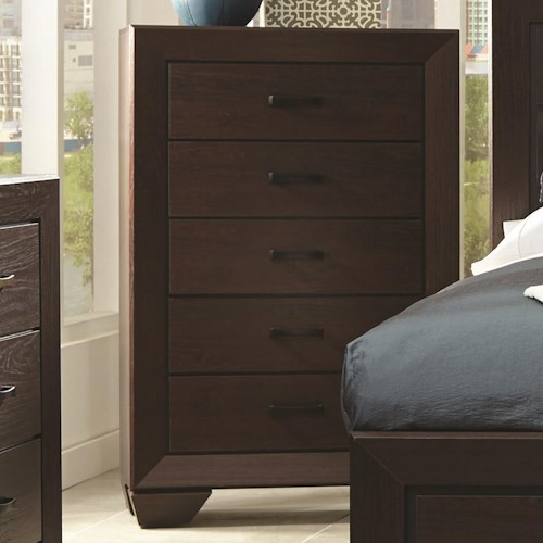Coaster Fenbrook Transitional Five Drawer Chest of Drawers