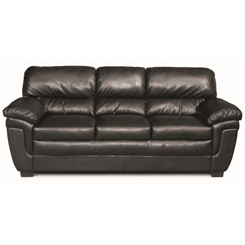 Coaster Fenmore Casual Split Back Leather-Like Sofa