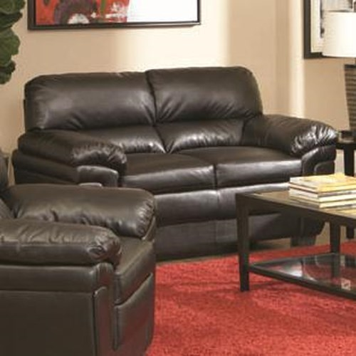 Coaster Fenmore Casual Ultra Plush Faux Leather Love Seat
