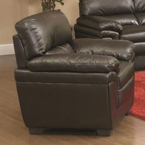 Coaster Fenmore Casual Double Pillow Arm Chair