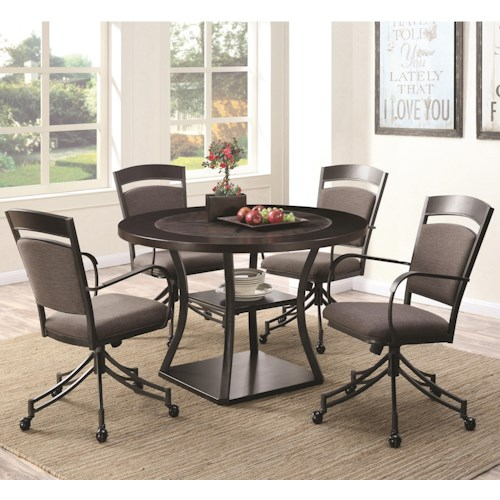 Coaster Ferdinand 5 Piece Round Table & Chair Set