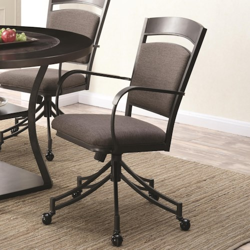 Coaster Ferdinand Upholstered Dining Chair with Casters