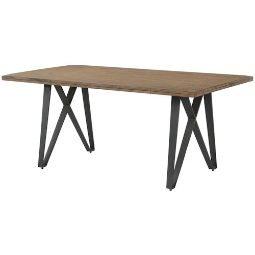 Coaster Ferguson Industrial Dining Table with Metal Pedestal Base