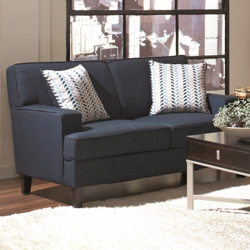 Coaster Finley Transitional Love Seat with Track Arms