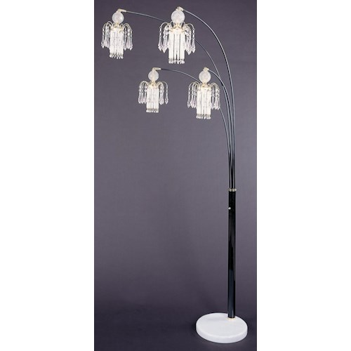 Coaster Floor Lamps Glass Floor Lamp
