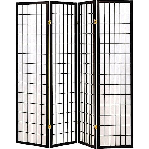 Coaster Folding Screens Four Panel Folding Floor Screen