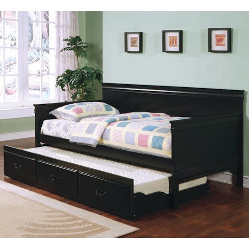 Coaster Fountain Louis Philippe Twin Daybed with Trundle
