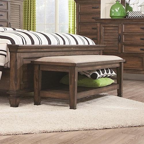 Coaster Franco Upholstered Bench