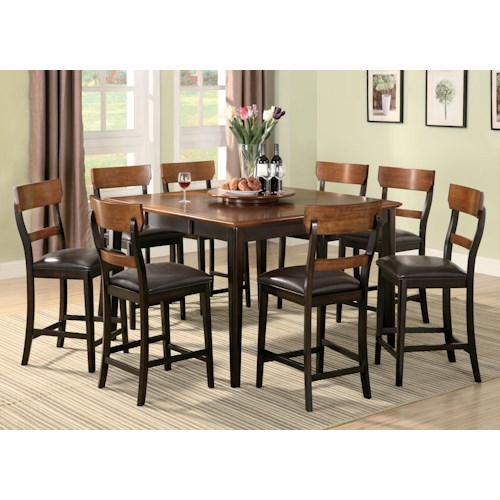 Coaster Franklin Eight Piece Counter Height Dining Set