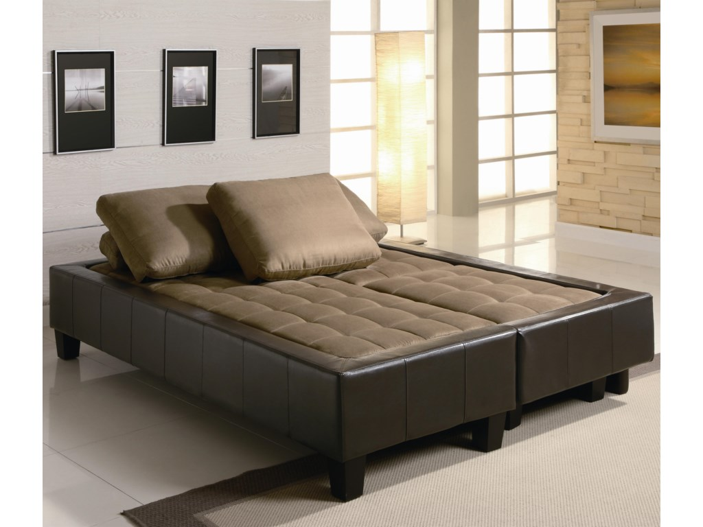 Shown with Sofa Converted Into a Bed