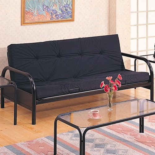 Coaster Futons Casual Metal Futon Frame and Mattress Set