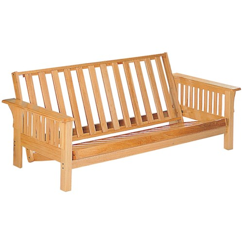 Coaster Futons Casual Futon Frame with Slat Side Detail