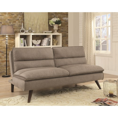 Coaster Futons Sofa Bed with Twill Fabric