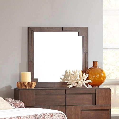 Coaster Gallagher Mirror with Geometric Paneled Frame