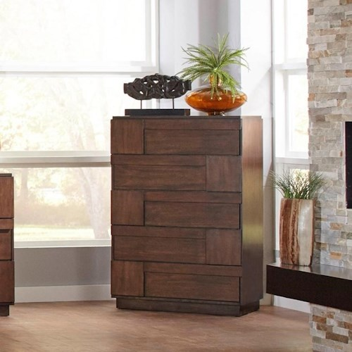 Coaster Gallagher 5 Drawer Chest with Finger Tip Drawer Pulls