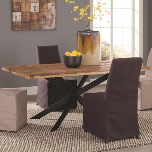 Coaster Galloway Dining Table in Rustic Natural Wood Finish