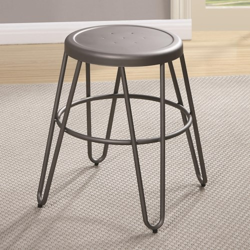 Coaster Galway Dining Stool with Light Gunmetal Finish