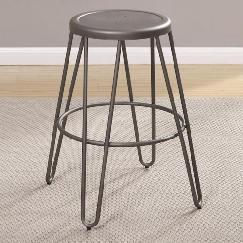 Coaster Galway Counter Height Stool with Light Gunmetal Finish