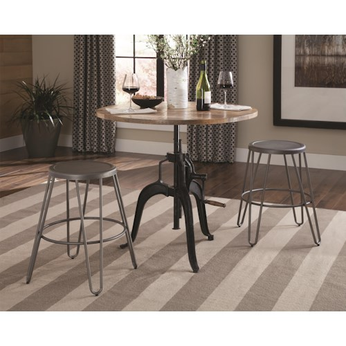 Coaster Galway Industrial Adjustable Dining Set