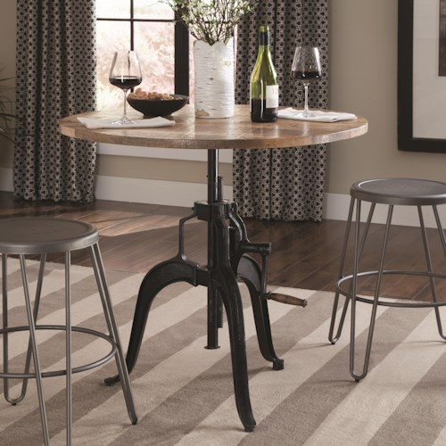 Coaster Galway Adjustable Height Dining Table with Crank
