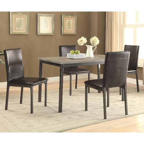 Coaster Garza 5 Piece Table & Chair Set