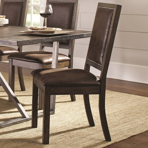 Coaster Genoa Rustic Solid Wood Side Chair