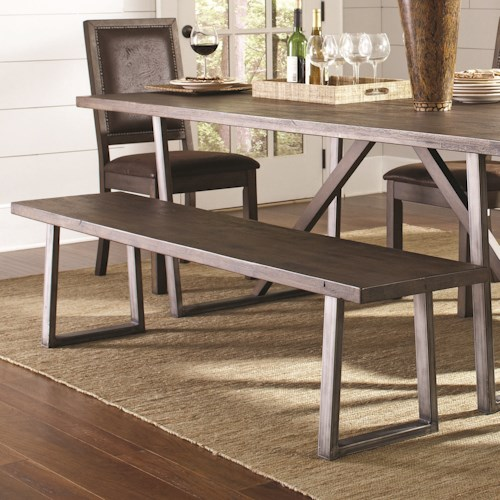 Coaster Genoa Rustic Solid Wood Dining Bench