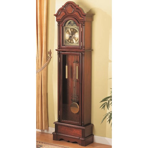Coaster Grandfather Clocks Traditional Brown Grandfather Clock with Chime