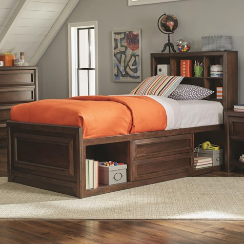 Coaster Greenough Twin Bed with Bookcase Storage