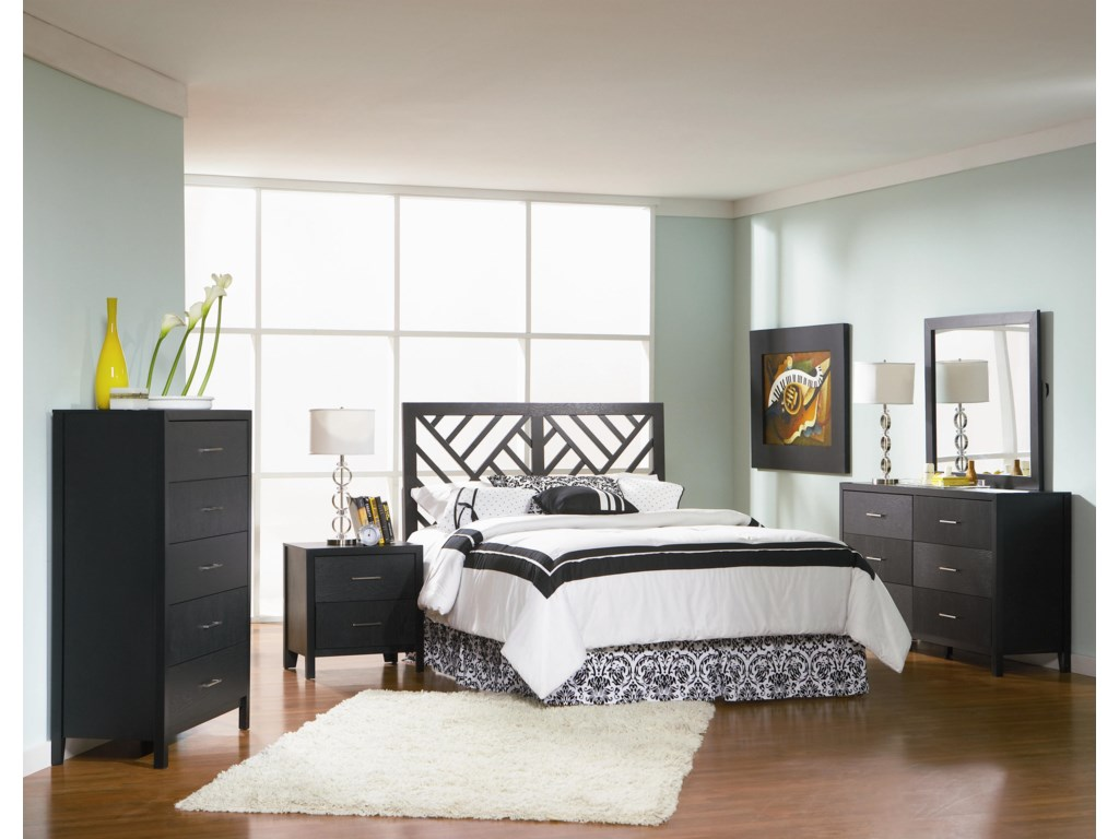 Shown with Night Stand, Dresser, Mirror, and Queen/Full Headboard