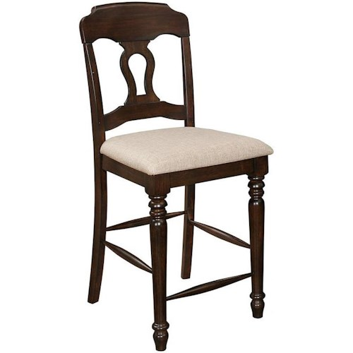 Coaster Hamilton Splat Back Counter Stool with Turned Legs