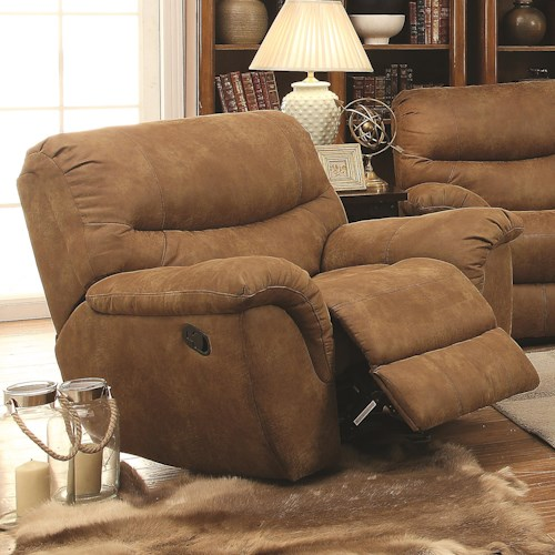 Coaster Hancox Recliner in Performance Fabric