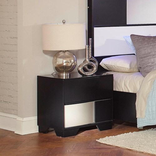 Coaster Havering Nightstand with Dovetail Drawers