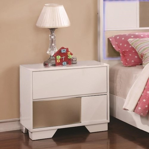 Coaster Havering Two-Tone Nightstand with Dovetail Drawers