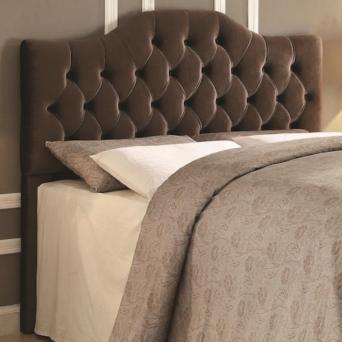 Coaster Headingley Upholstered Queen/Full Headboard in Coffee Velvet