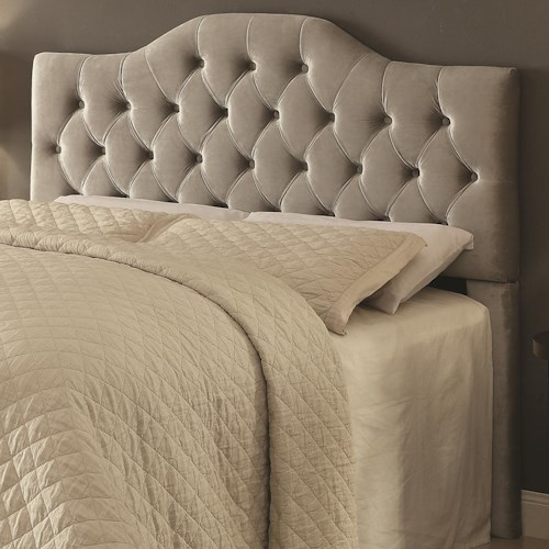 Coaster Headingley Upholstered Queen/Full Headboard in Grey Velvet